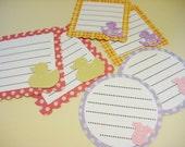 Baby girl scrapbook journaling tags set of 6