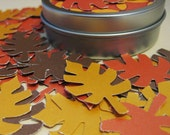 Metallic autumn leaf confetti (48 pieces)