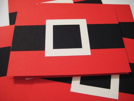 Santa Claus Christmas card set (5)