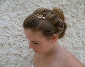 Juliet  headband Antique style Swarovski pearl