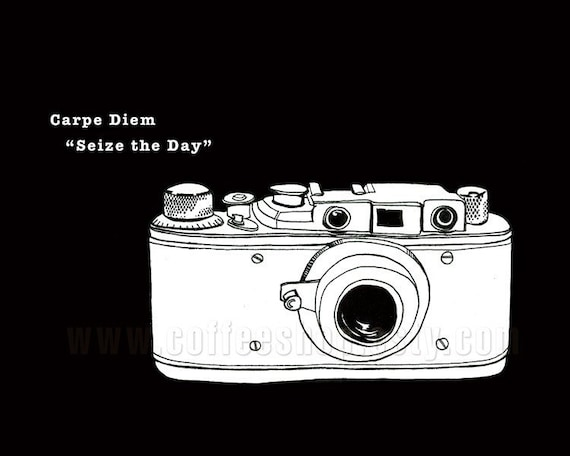 Carpe Diem-Seize the Day-Vintage Camera....Buy any 3-8x10 print and get 1 free