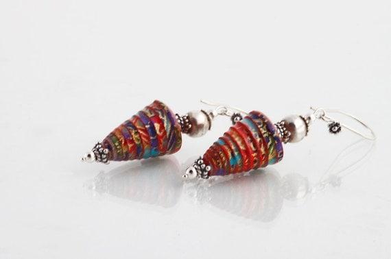 Paper Jewelry  -  Paper Bead Earrings