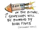 High Five Spaceship - Art Print