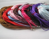 50pcs 2mm 16-18 inch adjustable assorted color(10 colors) satin necklace cord--perfect for small aanraku bails