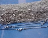 Class A Clasp--Get 100pcs of our Silver Plated/ Ball Chain Necklaces/Jewelry supply/18 inch(46cm)