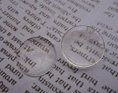 50pcs Round Clear Glass Cabochon, Transparent Cameo Cabochon, Base Cover - 25x25mm