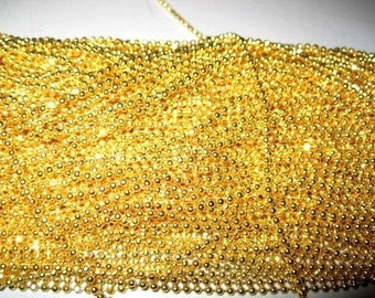 Get 12pcs of our Gold Plated/ Ball Chain Necklaces/Jewelry supply/17 inch