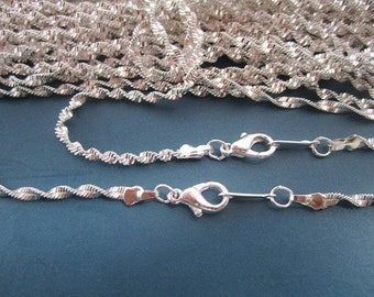 Get 10pcs of our Silver Plated/  Chain Necklaces/Jewelry supply/17 inch