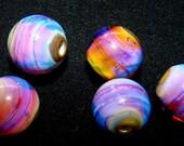 Desert Fire - Lampwork bead set