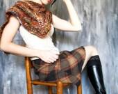handspun shawl and scarf - Slumbering Umber -