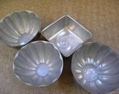 Vintage Jello Tart Molds -- Aluminum Set of 4