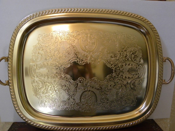 Vintage Serving Tray By Kensington Extra Large Ornate