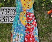 VIntage Multicolored fun summer dress VR699