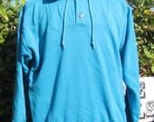 Vintage Mens Turquoise Pullover Hoodie VR873M SALE