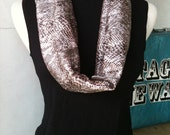 Snakeskin print Roundabout scarf