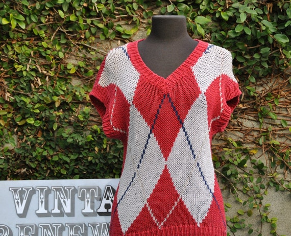 Red Sweater Top VR414 SALE