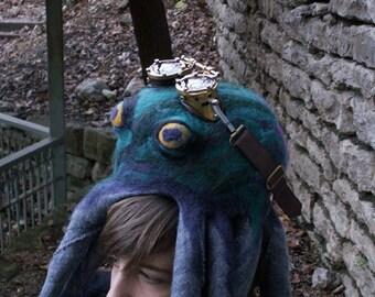 Astounding Octopus Needle Felted Hat