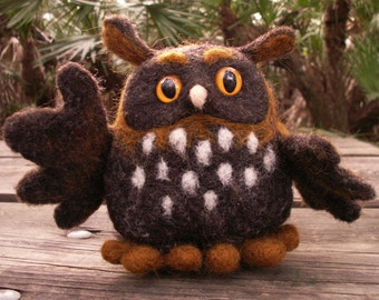 Needle Felted Owl Friend