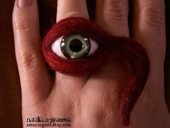 Watching You - Custom - Wonderfully Weird Eye Ring - Personalized