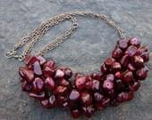 Pomegranate twist vintage necklace
