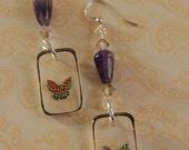 Butterfly Amethyst earrings