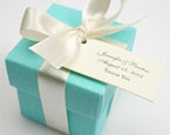 50 Favor Boxes -  Robin Blue  - Turquoise Square Linen Favor Boxes 2x2x2  - Wedding, Birthdays, Celebrations, bachlorettes, 15th, 16th, 21st