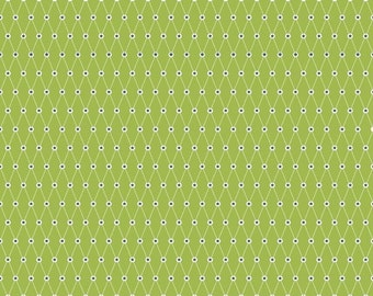 Green  All Star Diamonds Riley Blake Yardage quilting cotton Fabric