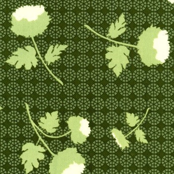 SALE Tossed Flowers Thyme Home Decor Fabric from Joel Dewberry for Free Spirit Fabric Ginseng