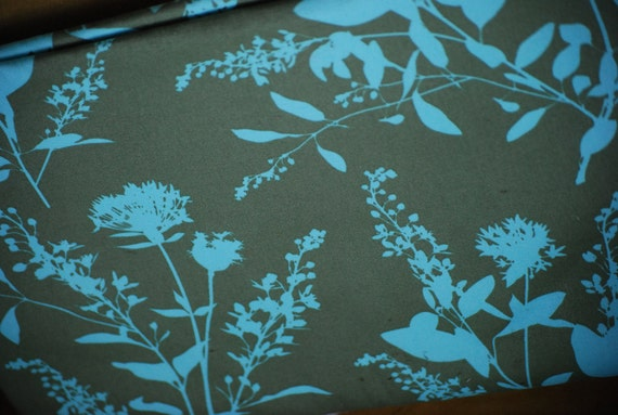 Wildflowers Home Decor Fabric from Joel Dewberry for Free Spirit Fabric Ginseng  HDJD05 Sage