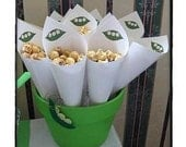 Printable DIY Pea in a Pod baby shower cones