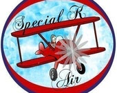 Airplane themed custom logo