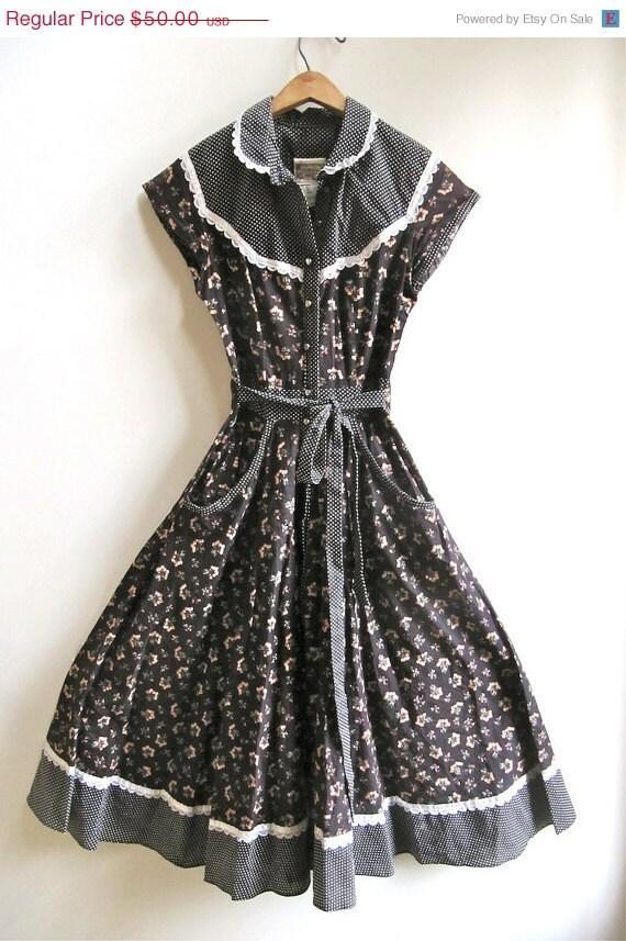 ON SALE Gunne Sax Prairie Dress Country Size 5
