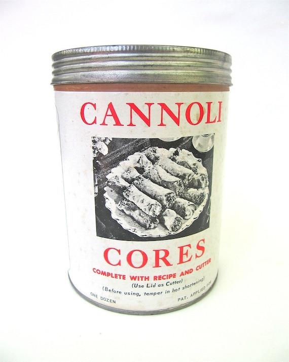 Cannoli Cores in Original Can by L Fanara