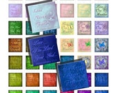 Buy 2 GET 1 FREE - Instant Download - Printable 1 inch square Religious Scripture Verses for pendants, stickers, tiles, scrapbooking 62