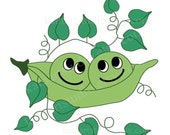 BUY 2 GET 1 FREE - Instant Download - Two Peas in a Pod Clipart for Scrapbooking, Card Making, Personal and Commercial Use 68