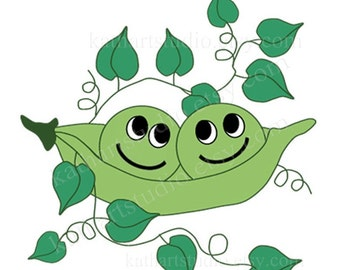 Instant Download - Two Peas in a Pod Clipart for Scrapbooking, Card Making, Personal and Commercial Use 68