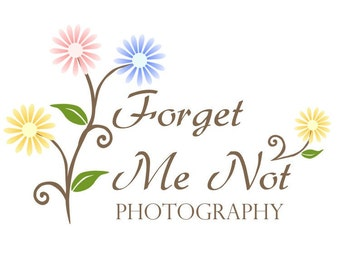 Premade Business Logo Design Flowers Daisy Logo 43 Forget Me Not