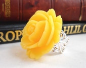 Yellow Rose Ring - foreverandrea