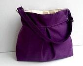 New-Purple Shoulder Bag--Adjustable Strap-Oversized-Ready to Ship