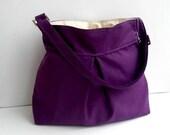 New-Purple Shoulder Bag--Adjustable Strap-Oversized