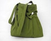 Tote Bag-Shoulder Bag-Green Bag-Double Straps