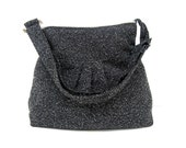 New-Shoulder Bag-Wool-Black and Gray