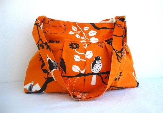 Sale % 10 off-NEW-Pleated-Orange-Large-Adjustable to Straps-Zipper Closure