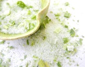 organic green scallion culinary sea salt with new option to make it pink himalayan salt twig & leaf botanicals