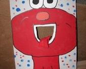 Elmo   Corn hole  game   with 4 bean bags