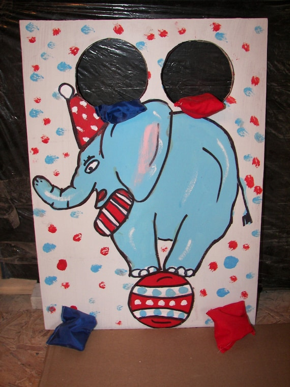 Circus  elephant   Corn hole  game   with 4 bean bags