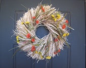 Field of Autumn Flowers Wreath SALE FREE SHIPPING