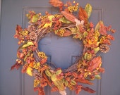 RESERVED LISTING FOR JENDSMITH Autumn Splendor Pine Cone Berry Wreath SALE WAS 50 NOW 45 SALE