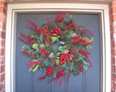 Winter Christmas Berry Holiday Wreath