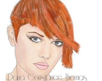 Fashion Illustration- Red Head